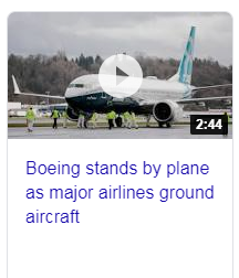 CNN reports Boeing stands by plane as major airlines ground 737 Max8